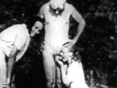 Antique Outdoor Threesome