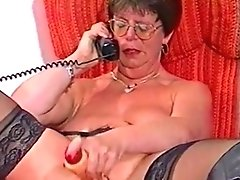 French Mature Plows Her Poon With Plastic - Two