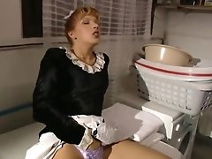 Butler And Maid In Laundry Room