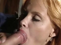 Awesome Facial Cumshot For Redheaded Whore