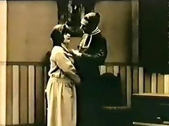 Real Vintage Priest Fucks Girl In B&w