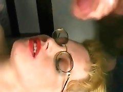 Cumming On Her Big Saggy Tits