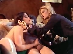 Crazy Retro Scene With Cathy Stewart And Diane Dubois