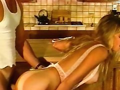 Antique Hunk Fucks Blonde In The Kitchen