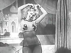 Sexy Blonde Honey Dancing Striptease