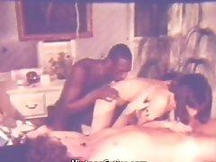 Delicious Interracial Threesome On Rubdown Table (1970s Antique)