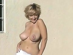 Danni Ashe Strips Down At Poolside